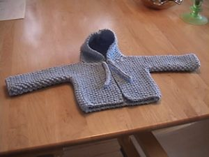 093ceb228031 Fran s Hooded Baby Sweater Free Knitting Pattern - Free Baby Knitting