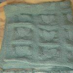 Free Heart Baby Blanket Knitting Pattern
