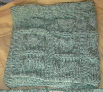 Free Heart Baby Blanket Knitting Pattern Free Baby Knitting