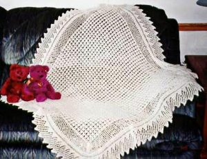 Free Loop Baby Blanket Knitting Pattern