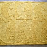 Free Moon And Stars Baby Blanket Knitting Pattern