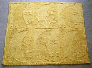 Free Moon And Stars Baby Blanket Knitting Pattern Free Baby Knitting