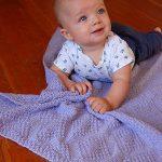 Moss Stitch Diamonds Baby Blanket Knitting Pattern
