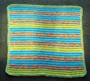 Striped Ridges Baby Blanket Knitting Pattern