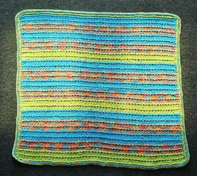 Striped Ridges Baby Blanket Knitting Pattern