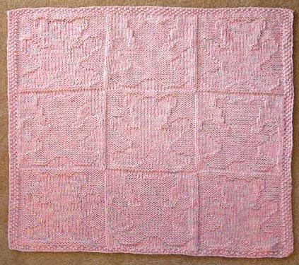 Teddy Bear Baby Blanket Knitting Pattern Free