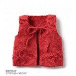 Wee Knit Vest Free Garter Stitch Pattern for Babies