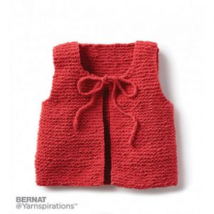 Wee Knit Vest Free Garter Stitch Pattern for Babies