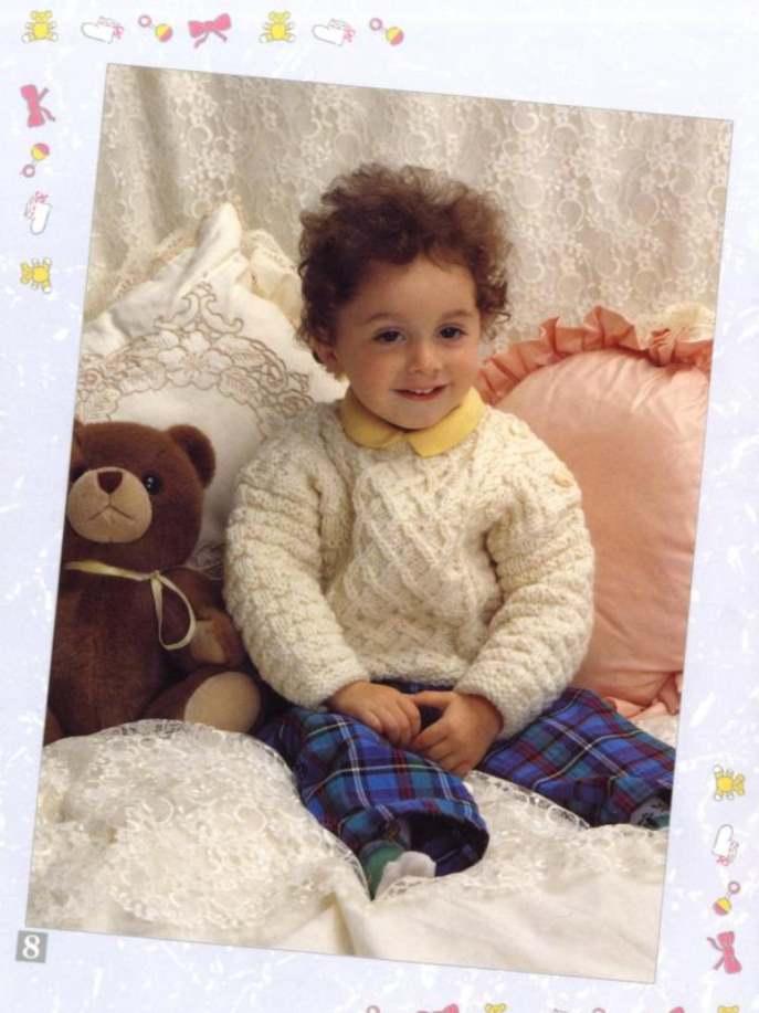 Aran sweater knitting pattern for baby