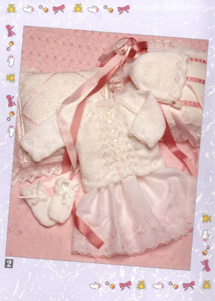 Jacket Bonnet and Mitts Knitting Pattern for Baby