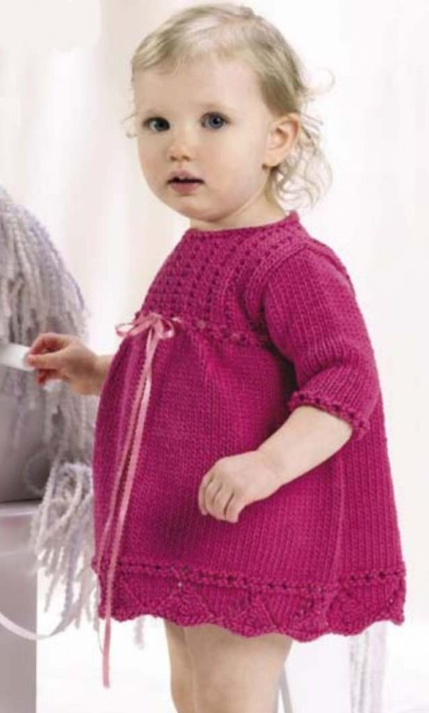 Cute Cotton Candy Baby Dress Knit Pattern