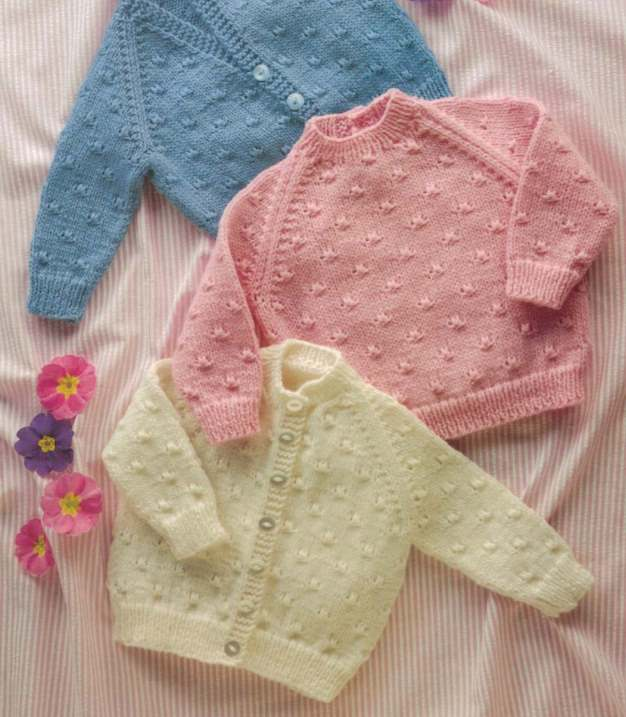 Shepherd baby knitting pattern for sweater and cardigan