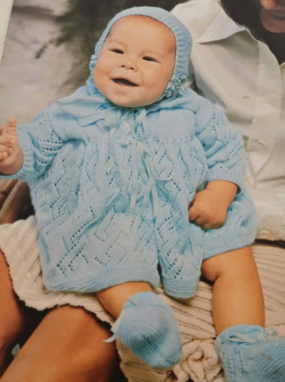 vintage baby set knitting pattern