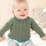 knitting pattern for a baby cabled sweater