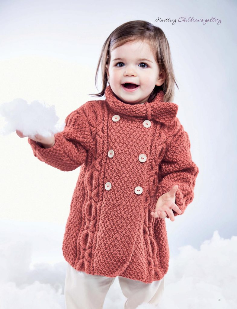 Cable Coat Knitting Pattern for Babies