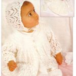 Free Baby Knitting 4 Ply Jacket, Bonnet, Booties and Mitts