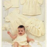 Lace Baby Layette Knit Patterns in 3 Ply