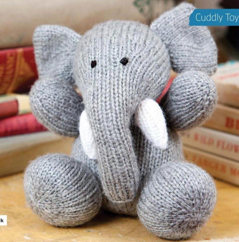 Toy elephant knitting pattern
