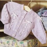 Free knitting pattern for a baby cardigan