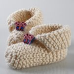 Easy garter stitch baby booties free knitting pattern