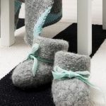 Free knitting pattern for felted baby booties