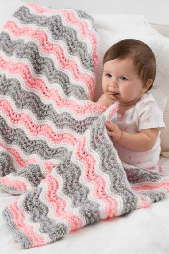 4 Row Repeat Baby Blanket Knitting Patterns - Quick Knits