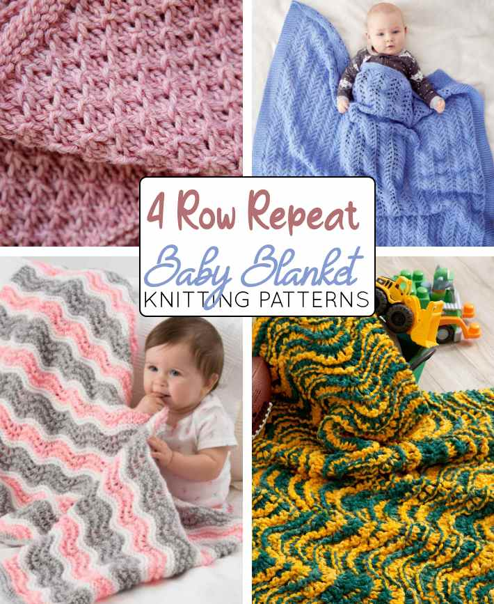 4 row repeat baby blanket knitting patterns free