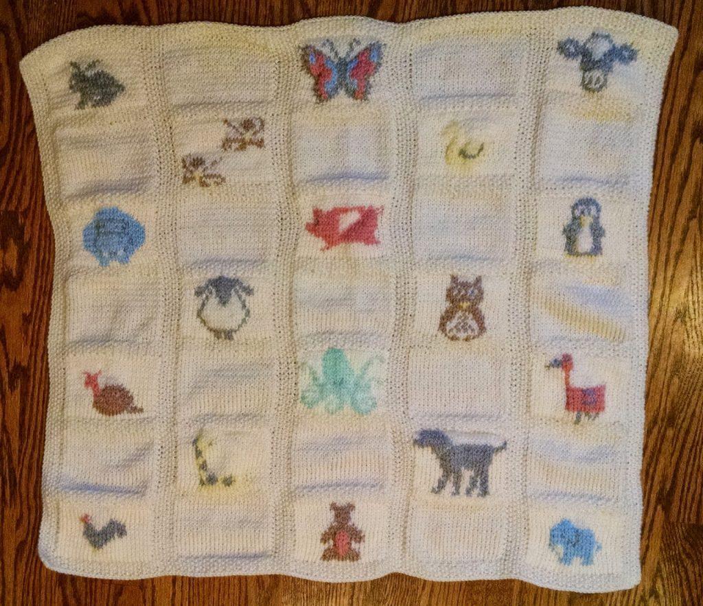 Animal Baby Blanket Knitting Patterns
