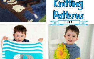 Animal Blanket Baby Knitting Patterns Free
