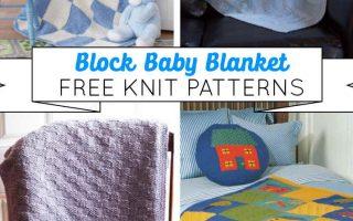 Block Baby Blanket Knitting Patterns