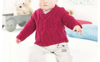 Child and Baby Cabled Sweater Knitting Pattern