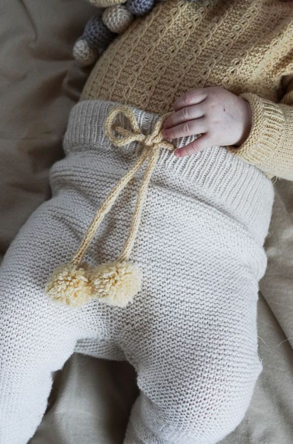 Free Baby Knitting Pattern for Garter Stitch  Leggings