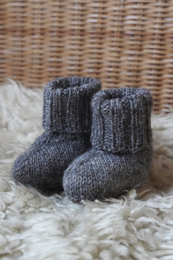 Free Knitting Pattern for Warm Baby Booties