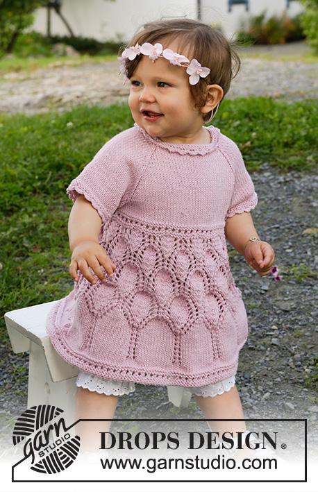 Free Little Miss Daisy Baby Dress Knit Pattern