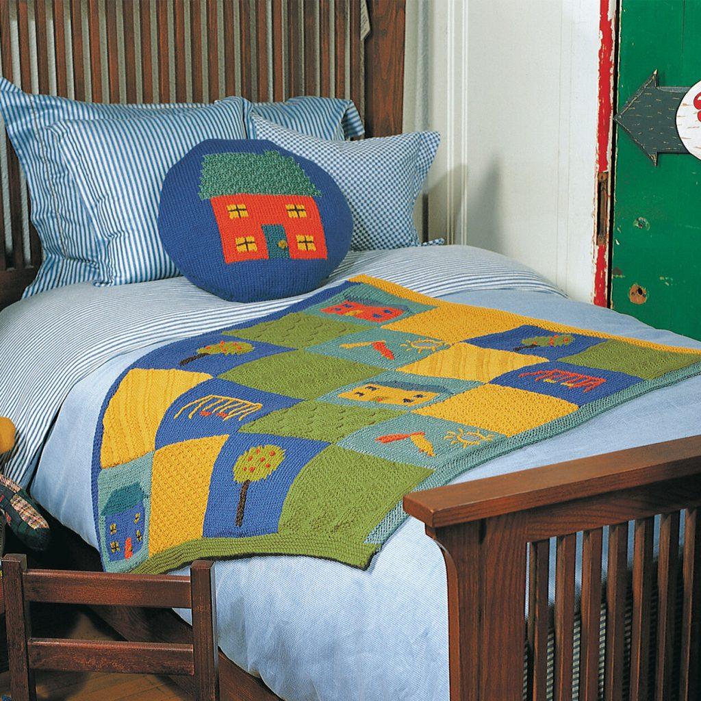 Free playground Block Baby Blanket Knitting Patterns Patons