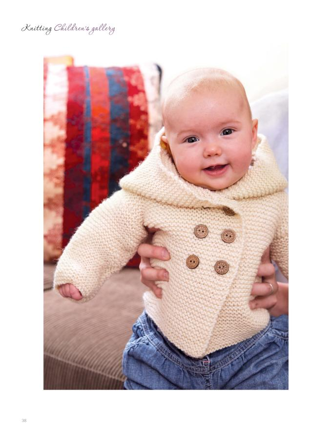 Garter Stitch Baby Jacket Knitting Pattern