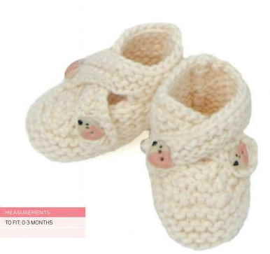 Knitting Pattern for baby cross over booties