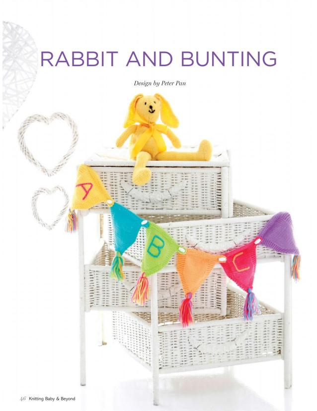 Knitting pattern for baby bunting and bunny toy