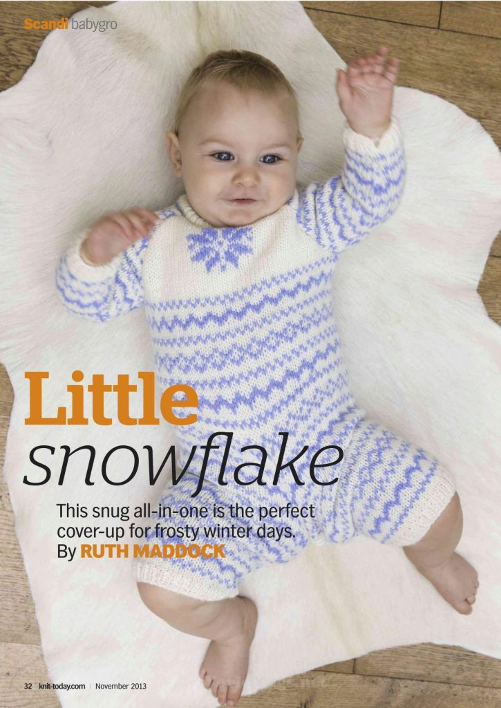 Little Snowflake Fair Isle Baby Bodysuit Pattern
