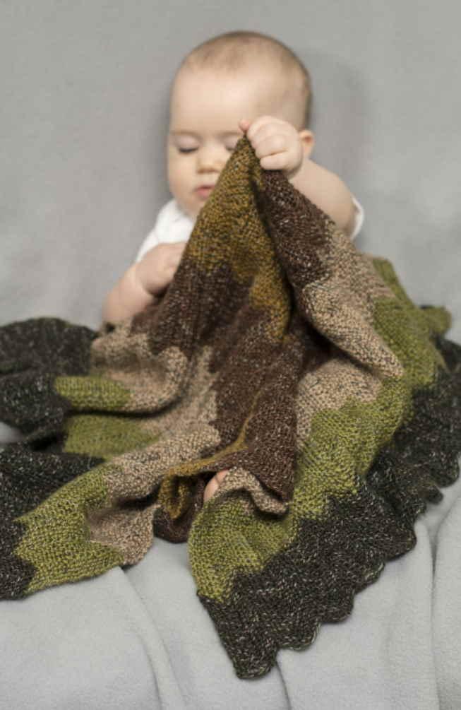 Ripple Baby Blanket Knitting Patterns free
