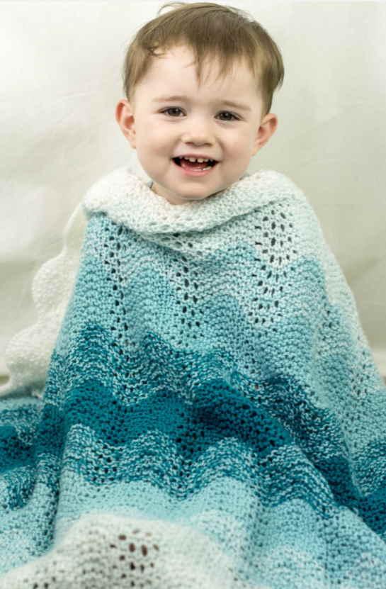 Ripple Baby Blanket Knitting Patterns