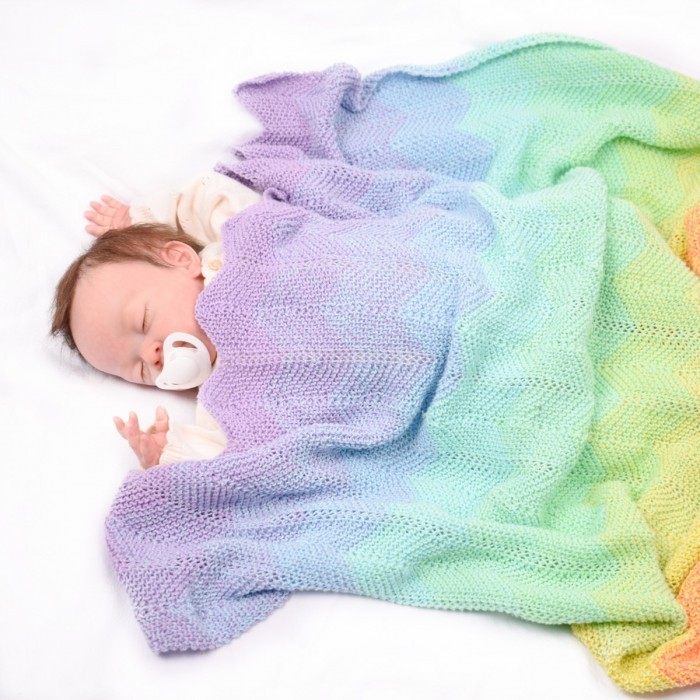 Yarn cake baby blanket knitting pattern free