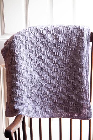 checkered Block Baby Blanket Knitting Patterns