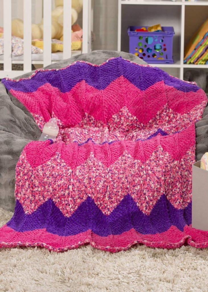chevron baby blanket free knitting patterns