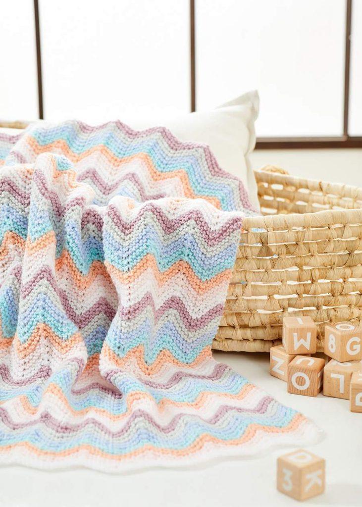 garter stitch ripple afghan